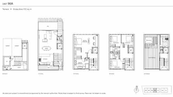 Urban Villas Terrace Floor Plan
