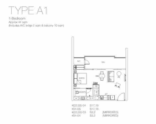 The Fulcrum Condo floor plan
