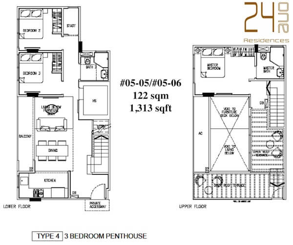 24 One Residences Floor Plan