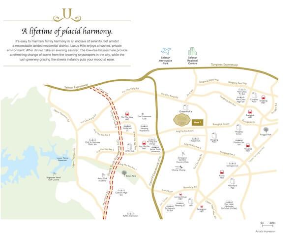 Luxus Hills Location