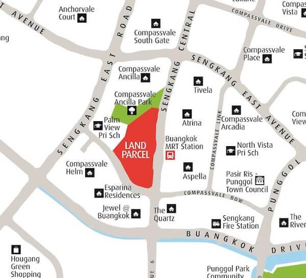 Sengkang Central Residences Location