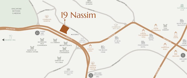 19 Nassim Location