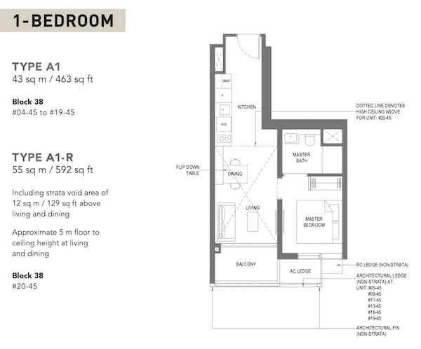 The M condo Floor Plan
