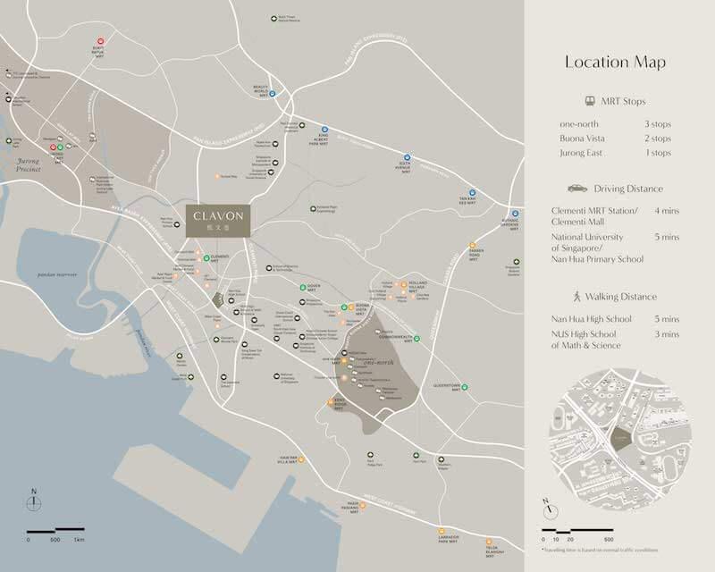 Clavon Condo Location Map
